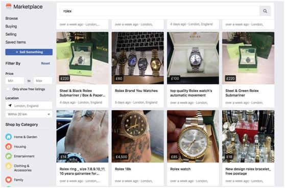 劳力士手表50英镑、Gucci包41英镑,Facebook Marketplace究竟是一个怎样的交易平台?
