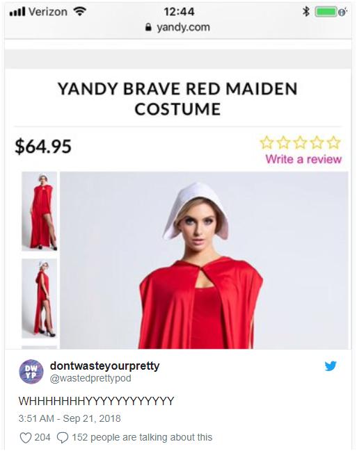 这款万圣节服装竟在推出数小时内就被迫下架,卖家犯了什么错?
